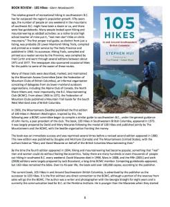 B.C. Mountaineering Club Newsletter