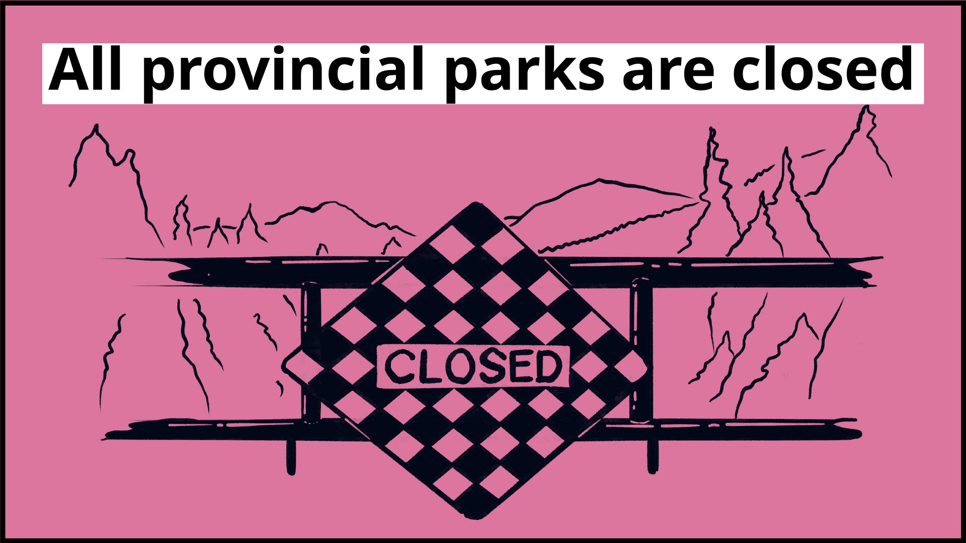 All provincial parks are closed