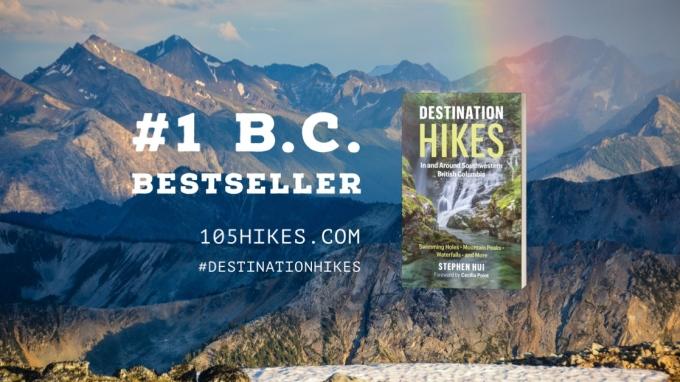 Destination Hikes = #1 B.C. bestseller